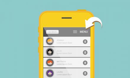 Añadir texto a la derecha del menú hamburguesa en móviles